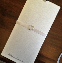 Elegance Invitation - Textured Quality Card Wallet to Match - range of Ribbons to Suit | Stationery Design Carlisle | Cumbria | UK