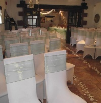 Heather Green Organza with white chair cover | Wedding | Carlisle | Cumbria | Lake District | Gretna | Newcastle | Skitby House Hotel