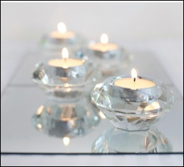 Crystal Cut Tealight Holders to hire | Wedding | Events | North  Yorkshire | Carlisle | Cumbria |  Luxury Weddings