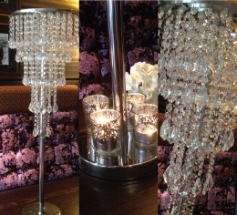 100cm Crystal Droplet Table Chandeliers to Hire | Weddings & Events | Carlisle | Cumbria | Lake District | Centre Pieces to Hire