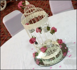 Ivory Tall 4-tealight Holder Bird Cage (H: 48cm) to hire | Wedding | Events | Carlisle | Cumbria | Shepherds Inn | Vintage Wedding