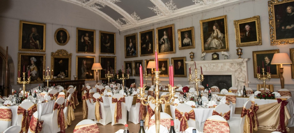 Muncaster Castle Wedding | Gold Taffeta Chair Sashes | Venue Dressers | Carlisle | Cumbria | UK