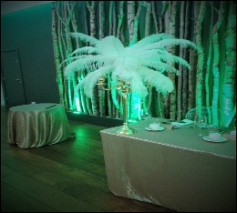 White Feather with Gold Candelabra | Great Gatsby 1920's Art Deco Wedding & Events | The Halston | Carlisle | Cumbria | Lake District | The Halston Carlisle