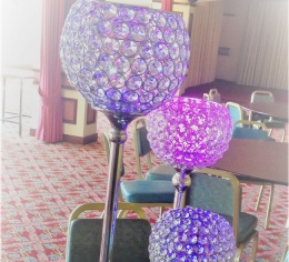 80/60/40cm Crystal Globes to Hire | Weddings & Events | Carlisle | Cumbria | Lake District | Centre Pieces to Hire