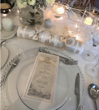 Clear Beaded Glass Charger Plates to hire |  Weddings | Events | Carlisle | Cumbria | Lake District | Scotland | Gretna