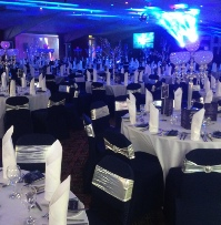 Navy Blue Chair Covers | VIP Wedding & Events | Carlisle | Cumbria | Lake District | Gretna | Newcastle | Shepherds Inn | North West