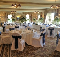 White Loose Chair Covers for banqueting chairs |  Weddings | Inn onthe Lake | Chair Cover Hire | Carlisle | Cumbria | Lake District