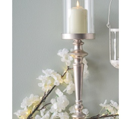Champagne Gold Candle Holder to Hire | Weddings & Events | Carlisle | Cumbria | Centre Pieces to Hire