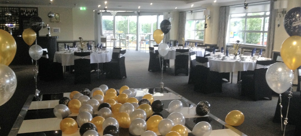 Shepherds Inn | Auctioneer | Graduation Party | Black Gold & Silver Event Decor | Carlisle | Roses & Hearts