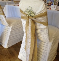 Ruched White Chair Covers | Wedding & Events | Carlisle | Cumbria | Lake District | Gretna | Newcastle | Tithe Barn | North West