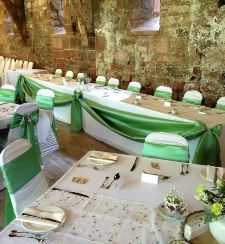 White Table Linen to Hire | Carlisle | Tithe Barn | Cumbria | North East | Dumfries