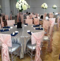 Blush Chiffon Ruffled Chair Hoods | Wedding | Carlisle | Cumbria | Lake District | Gretna | Newcastle | Old Fire Station Parquee Room