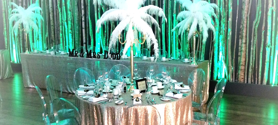 Great Gatsby Wedding at The Halston, Carlisle | 1920's Wedding | Feather Candelabra's | UK