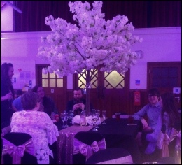 6ft Cream Blossom Tree to Scale to hire | Wedding | Events | Carlisle | Cumbria | Tithe Barn | Rustic Hessian Wedding