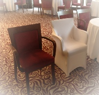 Chair Covers for Armed Chairs \ Arm Chair White Cover | Weddings | Armathwaite Hall | Chair Cover Hire | Carlisle | Cumbria | Lake District