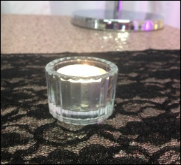 Vintage Style Cut Glass Tealight Holder to hire | Wedding | Events | Carlisle | Cumbria | Lake District | Gretna | North West