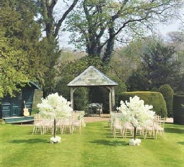 Askham Hall Wedding Ceremony 6ft Ivory Cherry Blossom Trees with silk Faux Flower Ring  | Hire | Lake District | Carlisle | Cumbria | Scotland | Newcastle